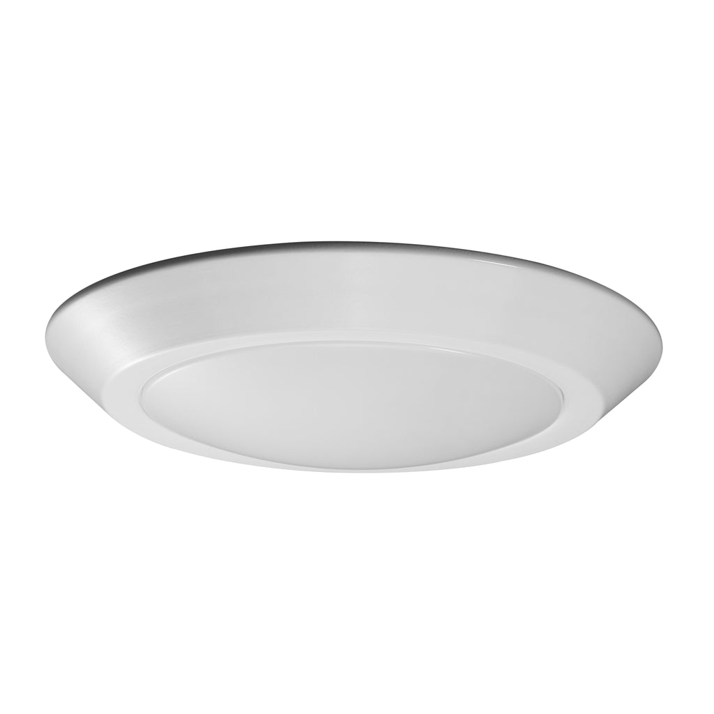 "Nuvo 7"" LED Flush Mount Fixture Disk Light White Finish 3000K"