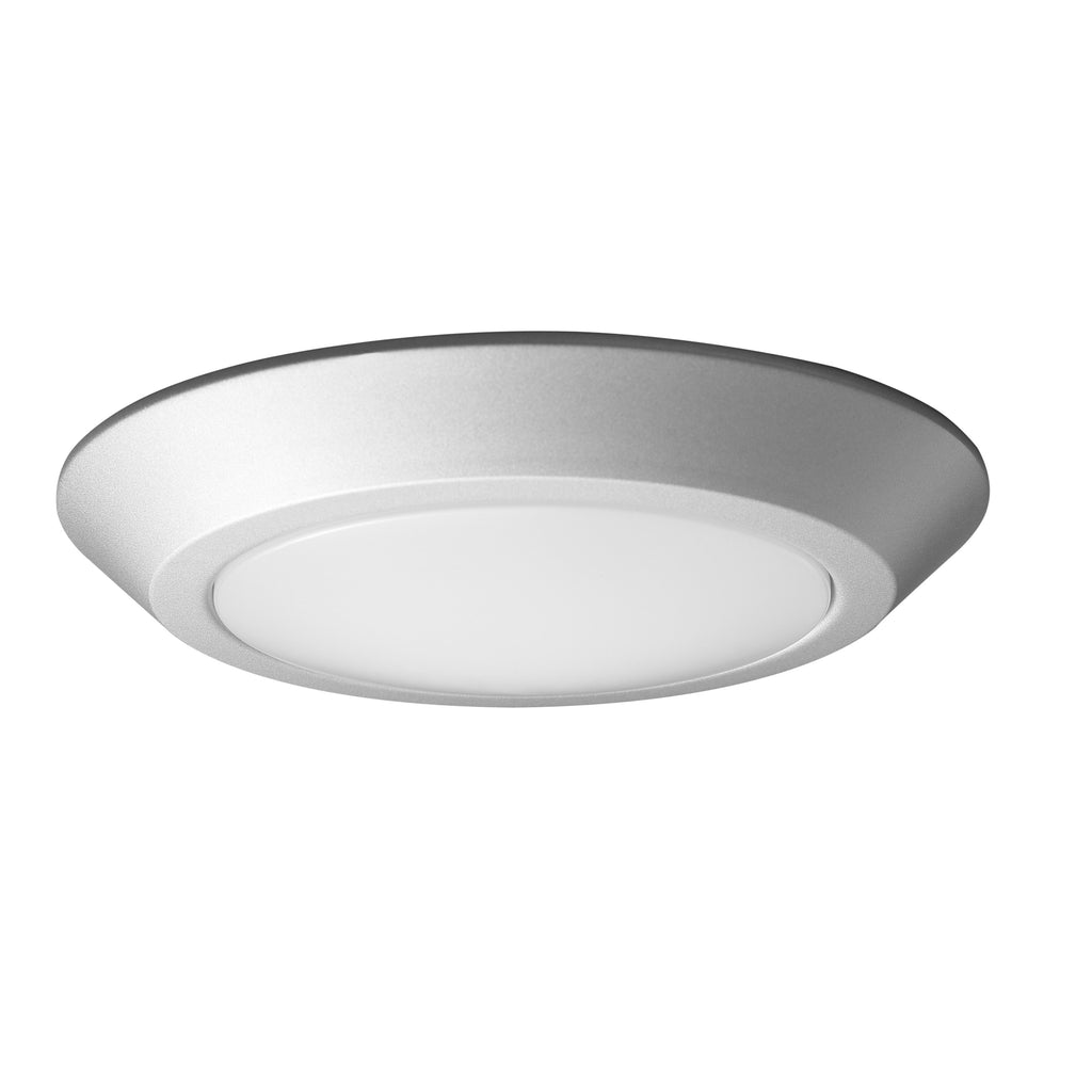 "Nuvo 7"" LED Flush Mount Fixture Disk Light Brushed Nickel Finish 3000K"