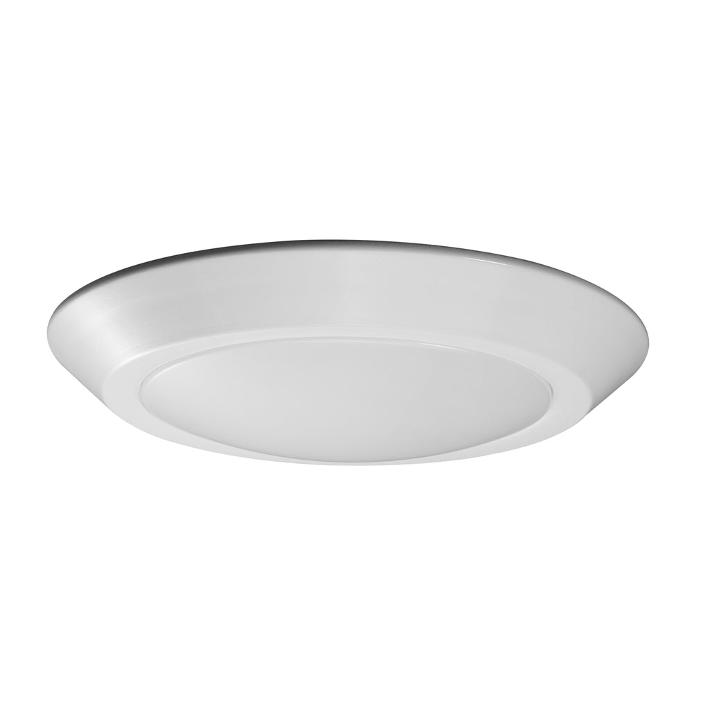 "Nuvo 62-1164 7"" LED Flush Mount Fixture Disk Light White Finish 4000K"
