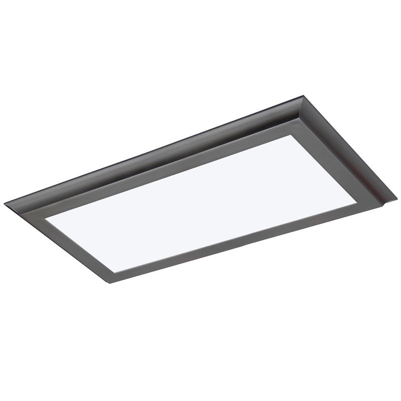 Nuvo Blink Plus 22w LED 12x24in Surface Mount LED Fixture - Gun Metal - 3000K