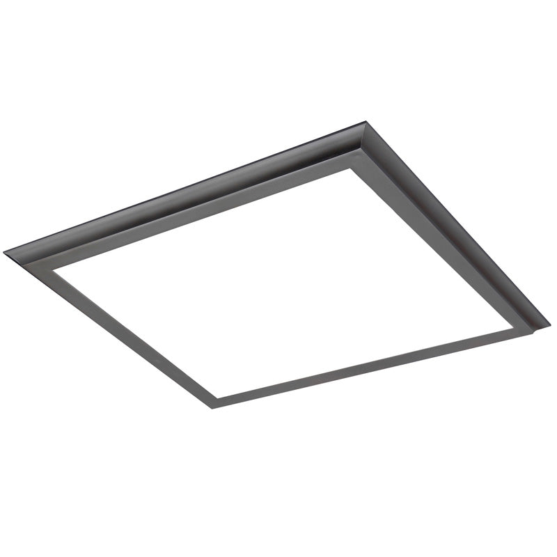 Nuvo Blink Plus 45w LED 24x24in Surface Mount LED Fixture - Gun Metal - 3000K