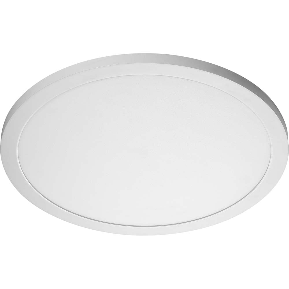 30W 19 in. Flush Mount LED Fixture 3000K Round Shape White Finish 120/277V
