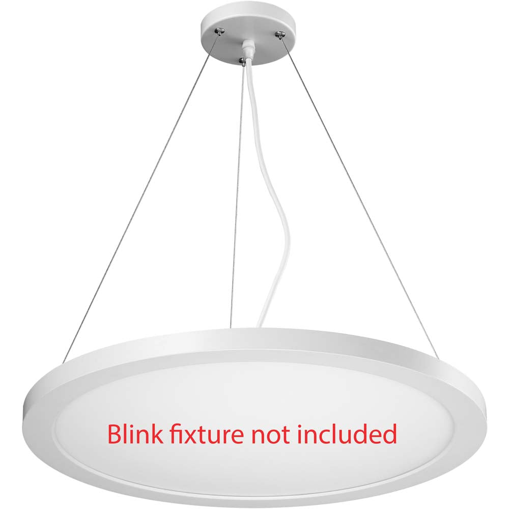 BLINK Plus Blink 24 in. Pendant Conversion Kit White Finish
