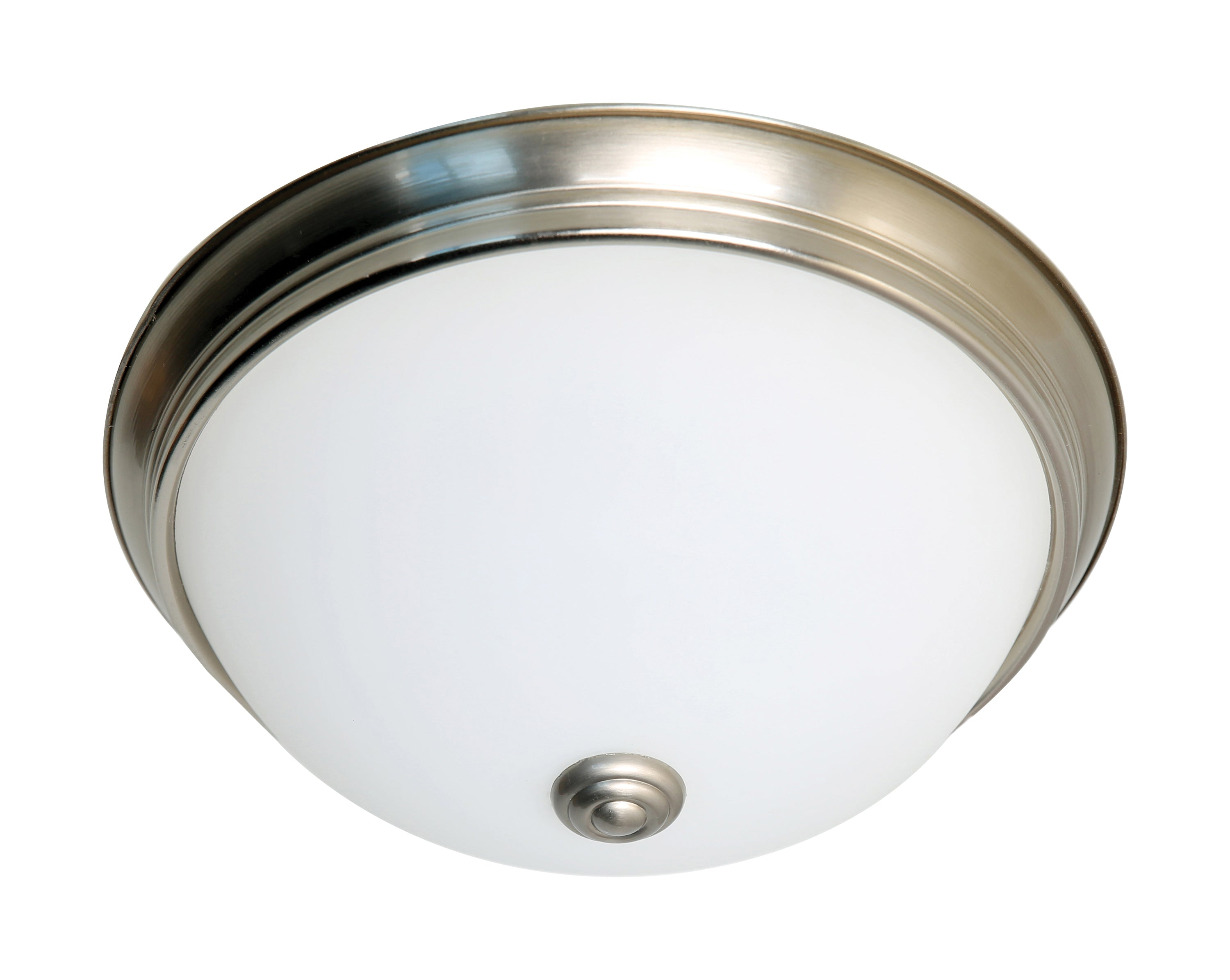 Nuvo 16.5w Close-To-Ceiling Flush 120v Brushed Nickel & Frosted Glass 3000k