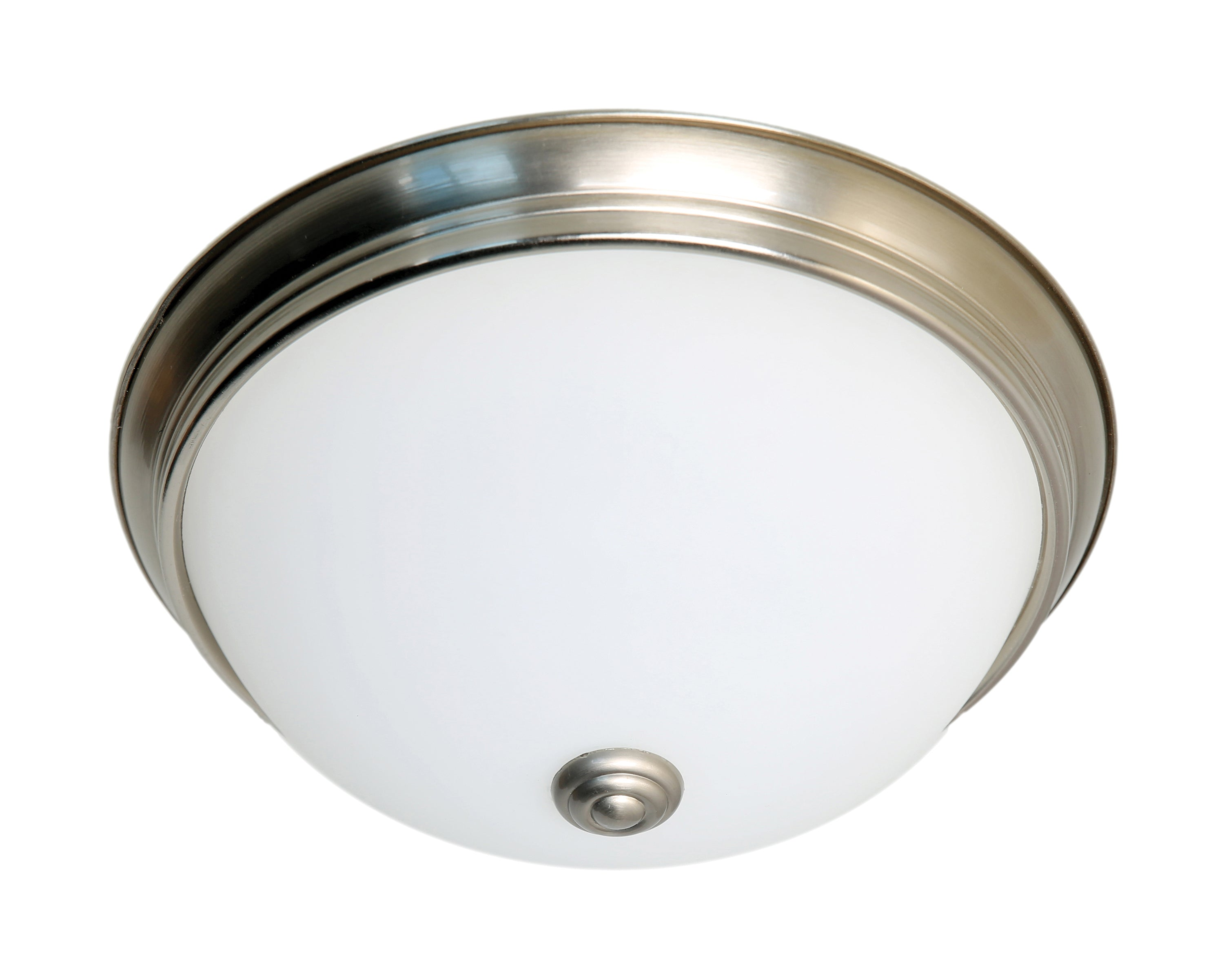 Nuvo 23.5w Close-To-Ceiling Flush 120v Brushed Nickel & Frosted Glass 3000k