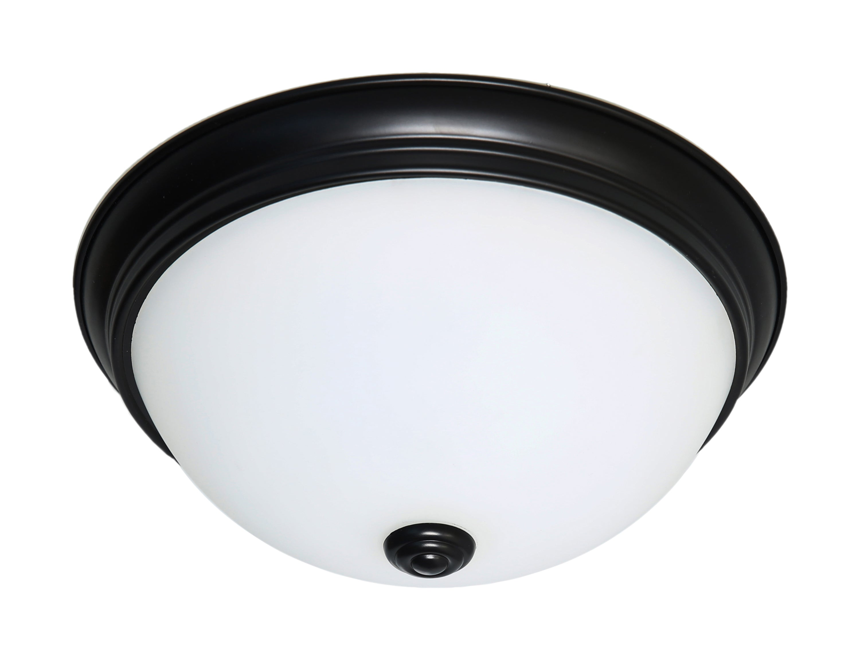 Nuvo 16.5w Close-To-Ceiling Flush 120v Mahogany Bronze & Frosted Glass 3000k