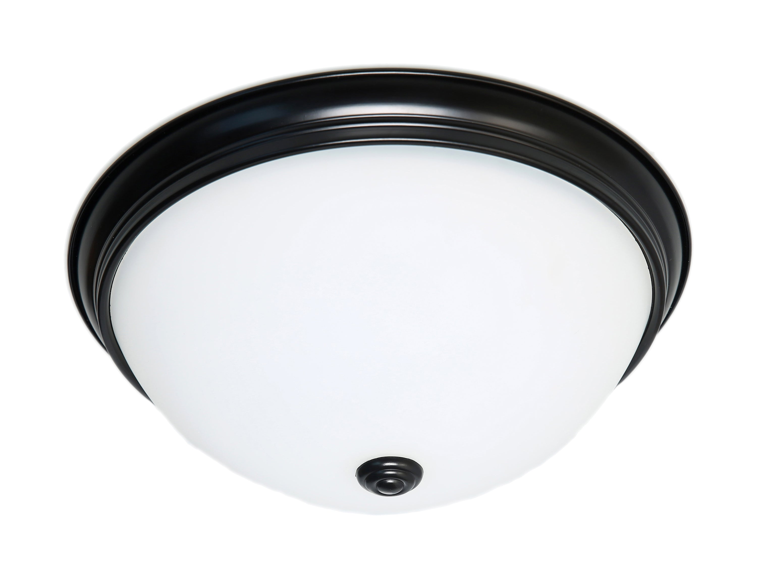 Nuvo 23.5w Close-To-Ceiling Flush 120v Mahogany Bronze & Frosted Glass 3000k