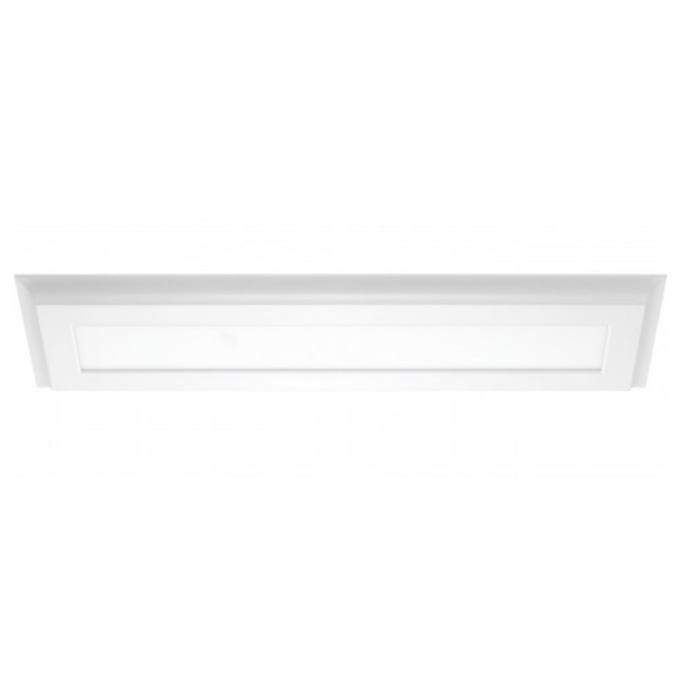 Nuvo Blink Plus 22w LED 7x25in Surface Mount LED Fixture - White - 4000K