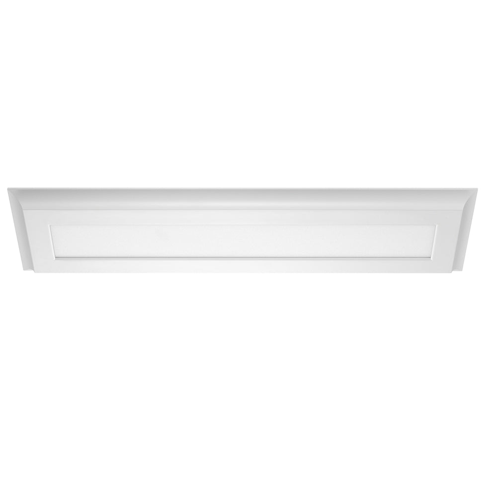 Nuvo Blink Plus 30w LED 7x38in 4000K Surface Mount LED Fixture - White