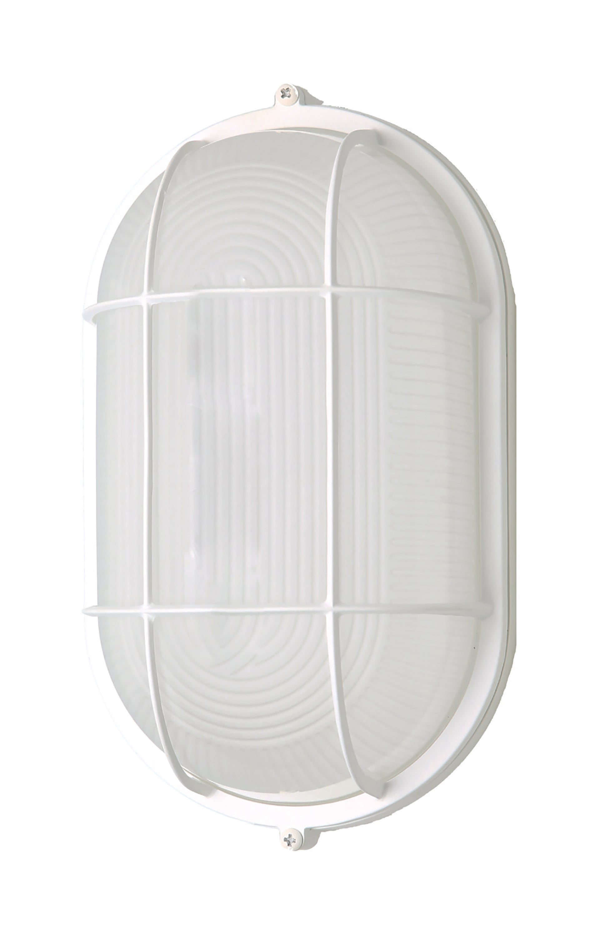 Nuvo 18.5w LED Oval Bulk Head Fixture w/ White Glass in White Finish