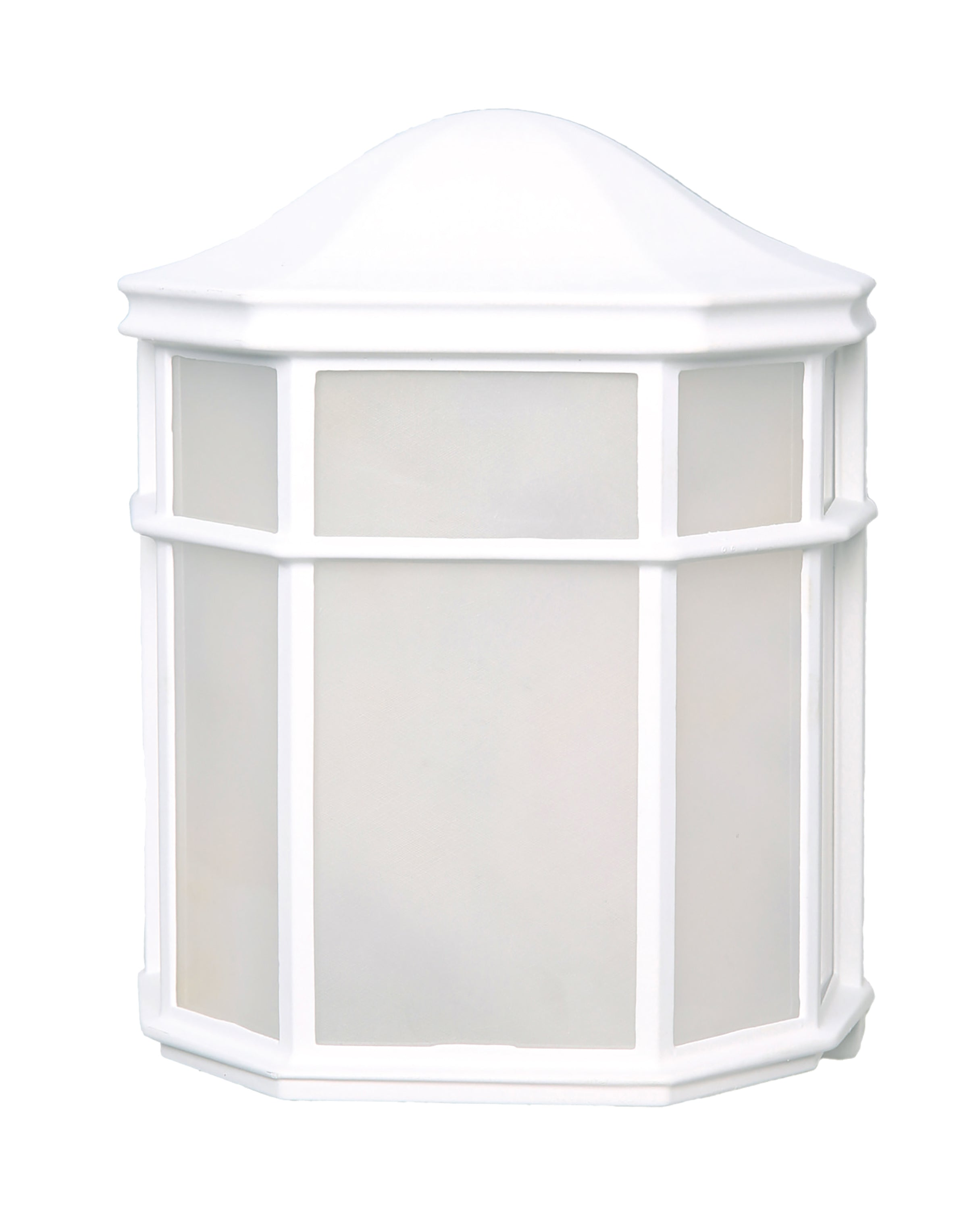 Nuvo 13.5w Outdoor Flush 120v White & Frosted Glass Shade 3000k