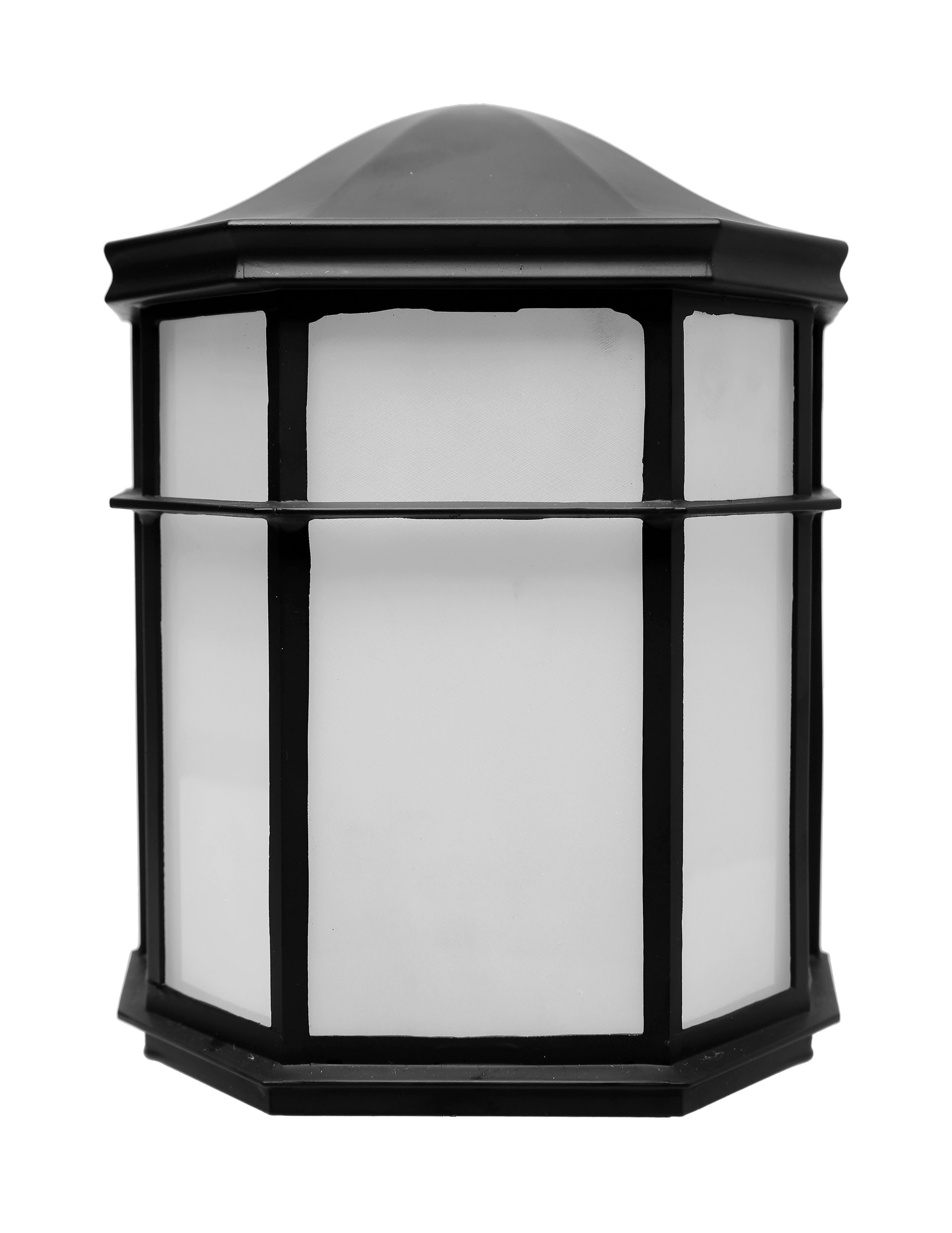 Nuvo 13.5w Outdoor Flush 120v Black & Frosted Glass Shade 3000k