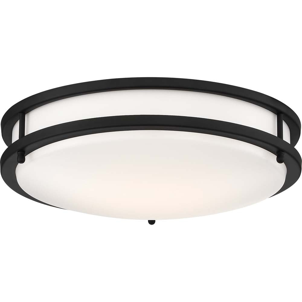 Glamour LED 13 in. Flush Mount Fixture Black Finish