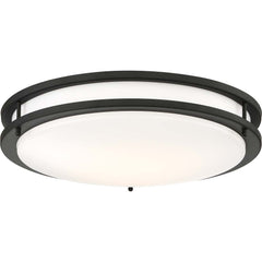 Glamour LED 17 in. Flush Mount Fixture Black Finish