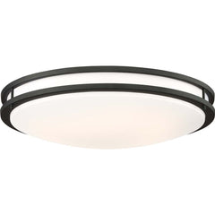 Glamour LED 24 in. Flush Mount Fixture Black Finish