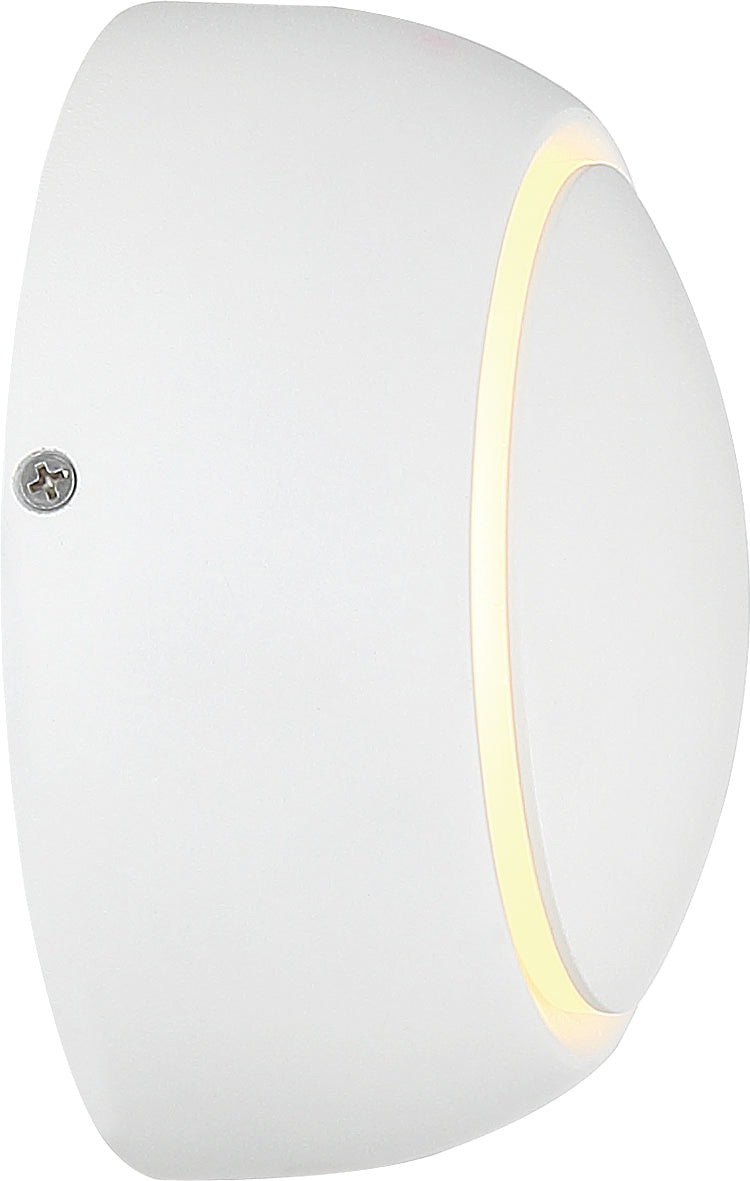 Nuvo Pinion 1-Light 5w LED Wall Sconce in White Finish