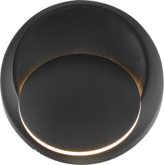Nuvo Pinion 1-Light 5w LED Wall Sconce in Black Finish