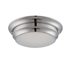 Dash - 1-Light LED Flush Mount Brushed Nickel Ceiling Light Fixture