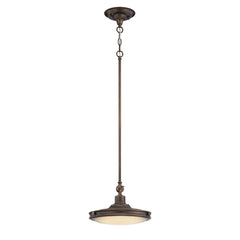 1-Light Houston LED Pendant Lights Rustic Antique Brass Finish Fixture