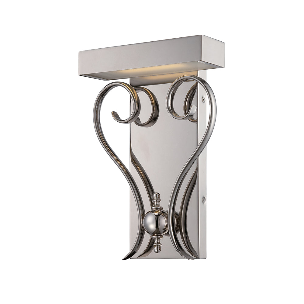 Nuvo Coco 1-Light LED Wall Sconce Mounted in Polished Nickel Finish