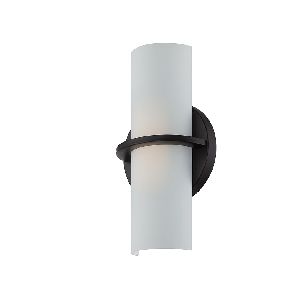 "Nuvo Tucker 10w 6"" LED Wall Sconce w/ Etched Opal Glass in Aged Bronze Finish"