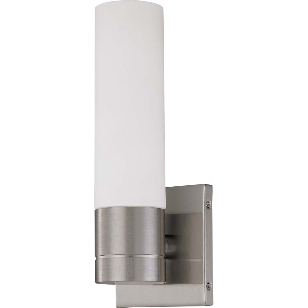 Nuvo Lighting 12w Link Led 1-Light Wall Sconce Brushed Nickel Finish