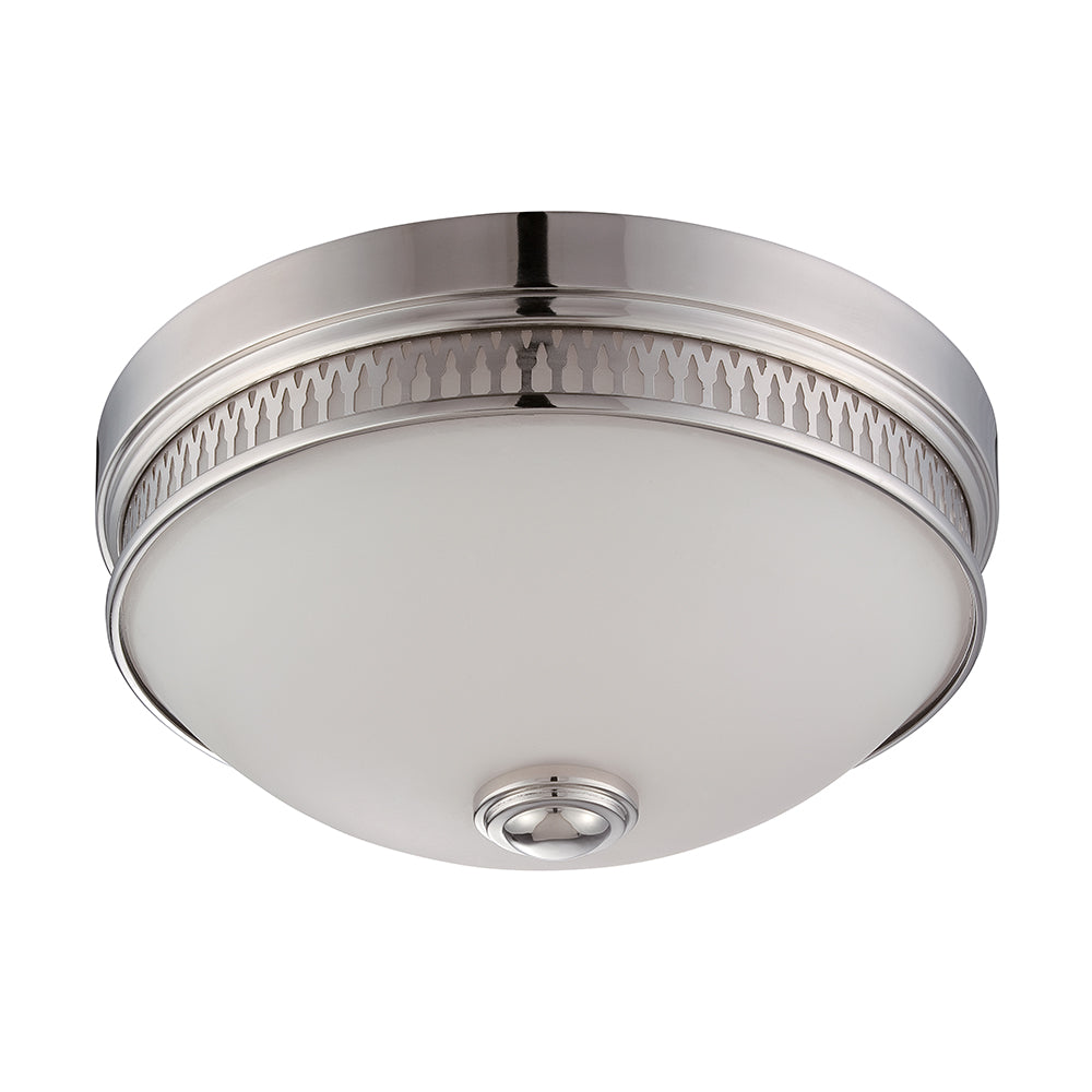 Nuvo Harper 20w LED Flush Mount in Polished Nickel Finish