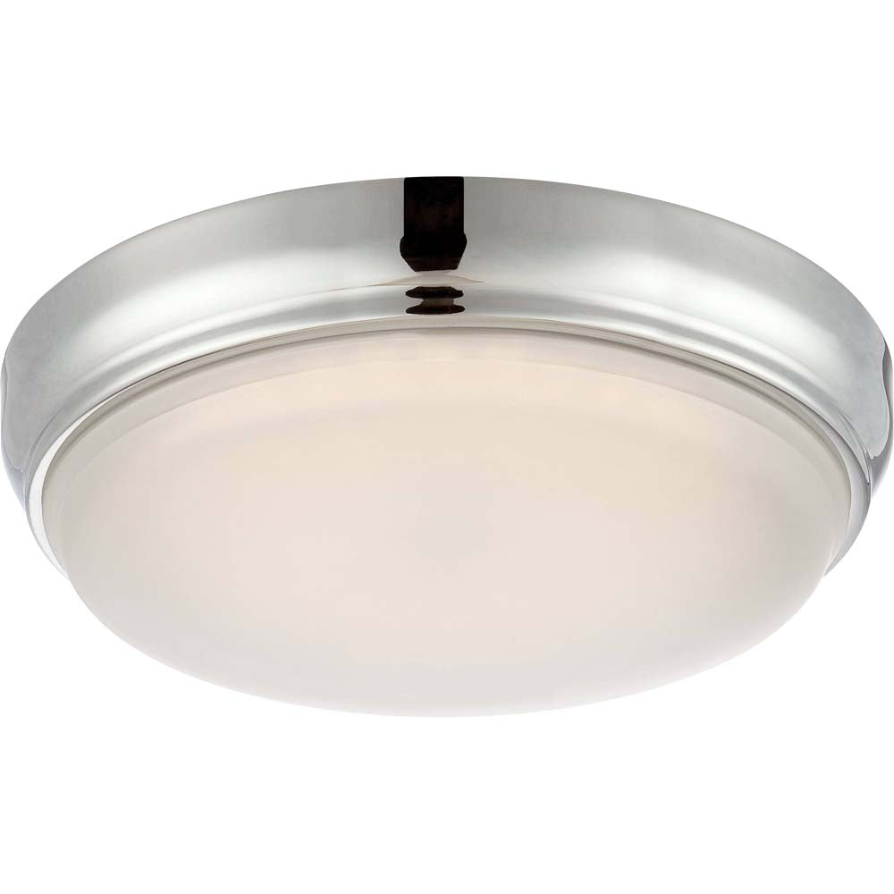 Nuvo Dot Led Flush Mount Fixture w/ Frosted Glass in Polished Nickel Finish