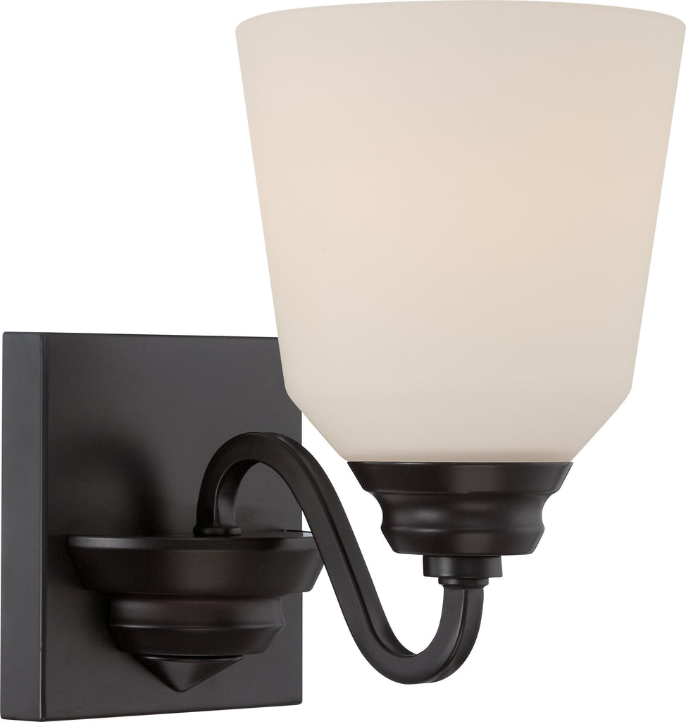 Calvin 1-Light Wall Mounted Vanity & Wall Light Fixture in Mahogany Bronze