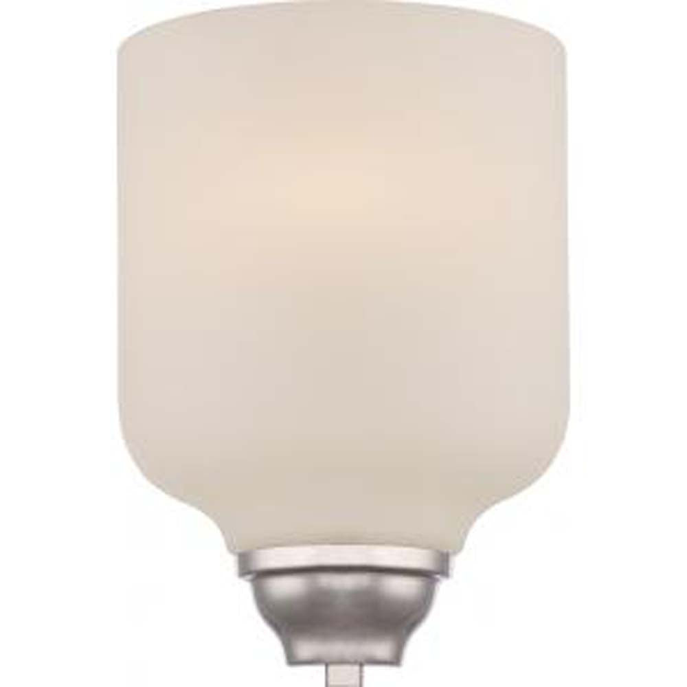 Nuvo Kirk 1-Light Wall Sconce w/ Etched Opal Glass in Polished Nickel Finish
