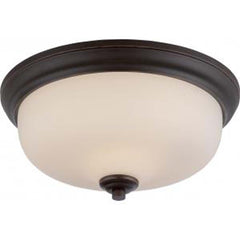 Kirk - 2 Light Flush Fixture w/ Etched Opal Glass - LED Omni Included
