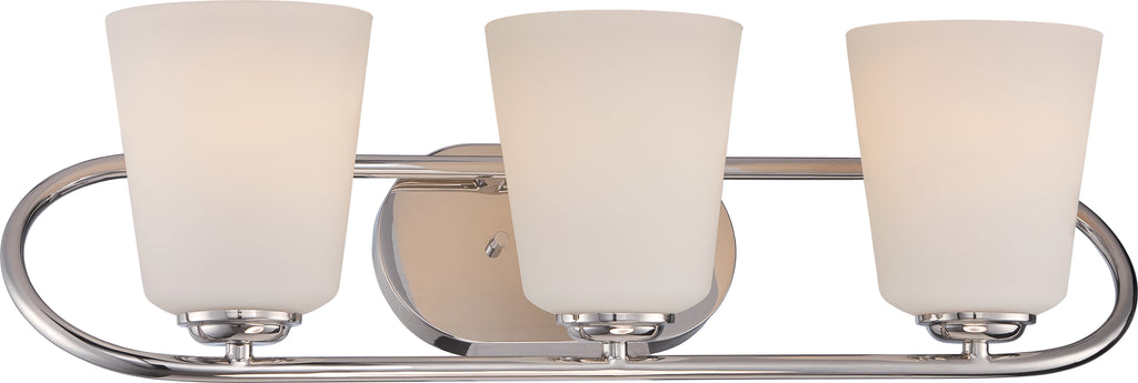 Dylan 3-Light Wall Mounted Vanity & Wall Light Fixture in Polished Nickel