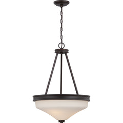 Cody - 3 Light Pendant w/ Satin White Glass - LED Omni Included