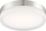 Nuvo 62-460 25w Pi - 1 Module Circular LED 120v Dimmable Ceiling Flush Mount - BulbAmerica