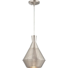 Jake - 1 Light Perforated Metal Shade Pendant w/ 14w LED PAR Lamp Incl.