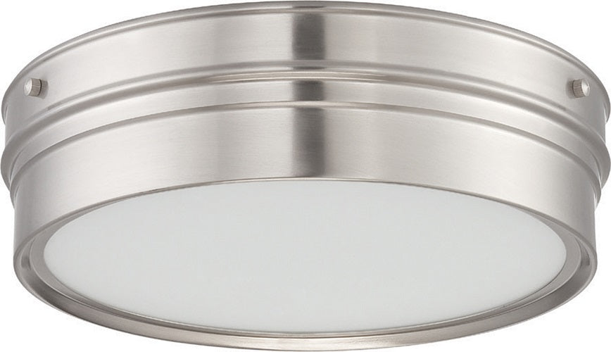 Nuvo Ben 16W LED 12.75 inch Ceiling Flush Satin White Glass Mount Fixture