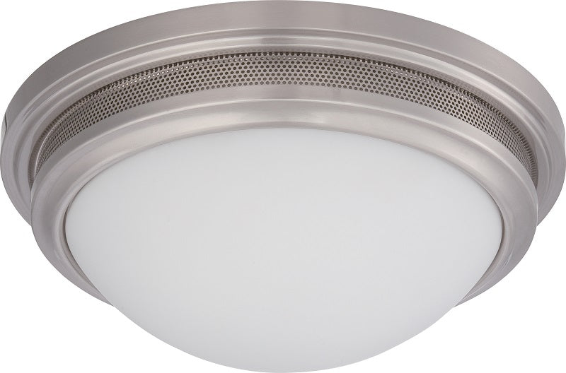 """Nuvo Corry 16w 13.25"""" LED Flush Fixture w/ Frosted Glass in Brushed Nickel"""