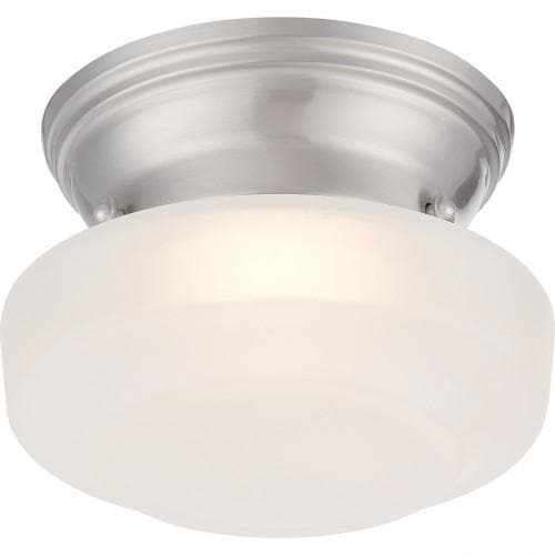 Nuvo Lighting Bogie 7.8W LED 6 inch Ceiling Flush Frosted Glass Mount Fixture