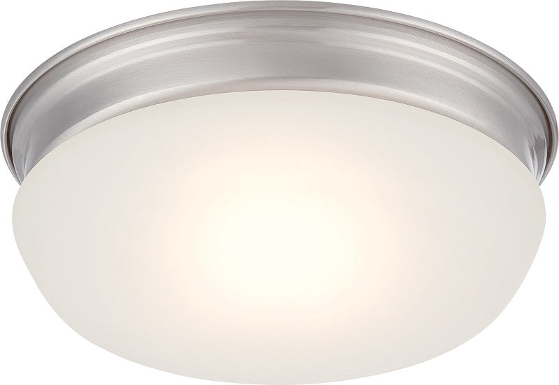 Nuvo Lighting Trevor 16W LED 7.875 inch Ceiling Flush Frosted Glass Mount Fixture