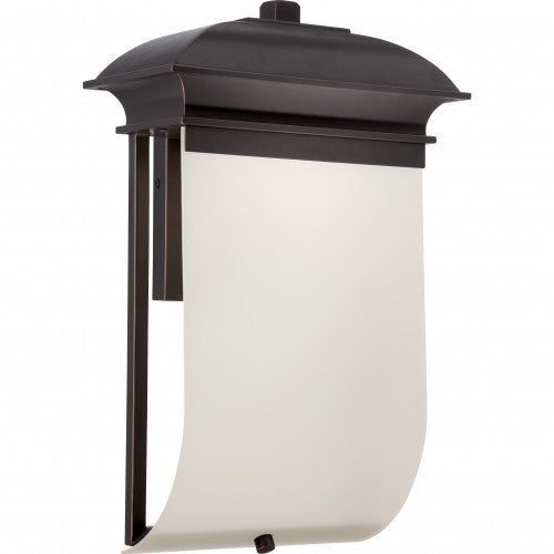 Nuvo 10 inch Foster LED Outdoor Wall Light Bronze Rectangular Sand Frosted Glass