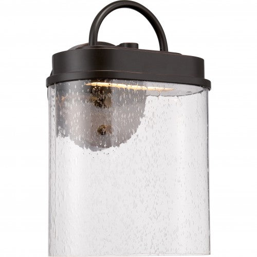 Nuvo 9.125 inch Hunt LED Outdoor Wall Light Rectangular Bronze Clear Seeded Glass