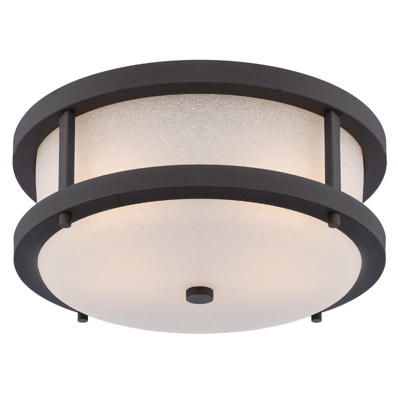 Nuvo 13.75 inch Willis LED Outdoor Black Light Antique White Glass