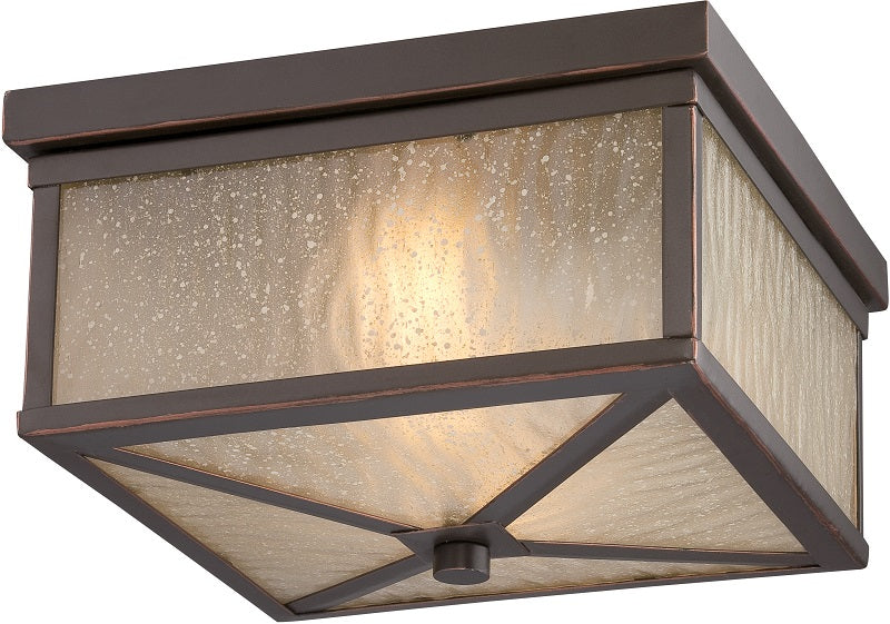 Nuvo 20.75 inch Haven LED Outdoor Bronze Sanded Tea Stain Glass