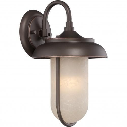 Landscape Lighting Tulsa: Nuvo 8.25 Inch Tulsa LED Outdoor Wall Bronze Light With