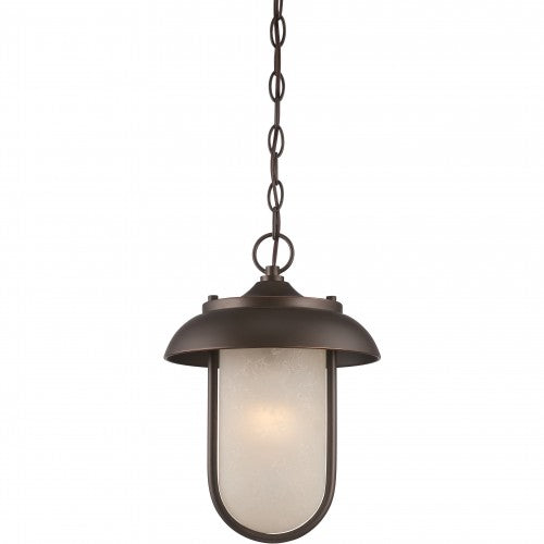 Nuvo 10 inch Tulsa LED Outdoor Bronze Satin Amber Glass