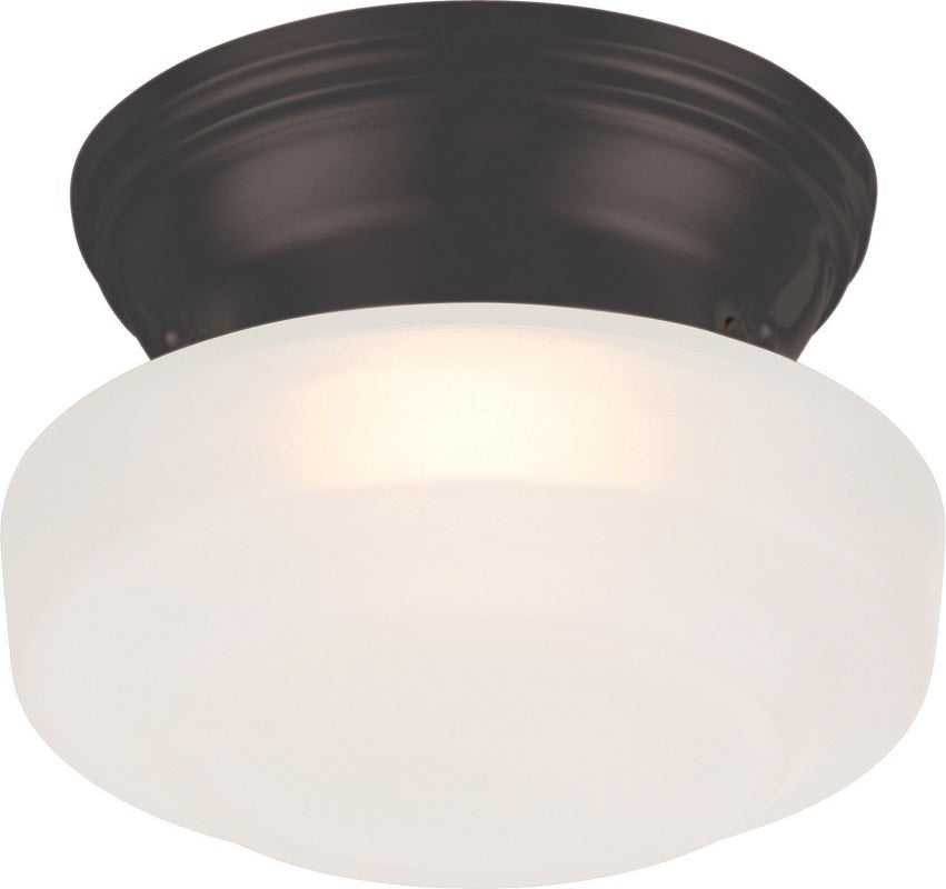 Nuvo Lighting Bogie 7.8W LED 6 inch Ceiling Wall Frosted Glass Mount Fixture