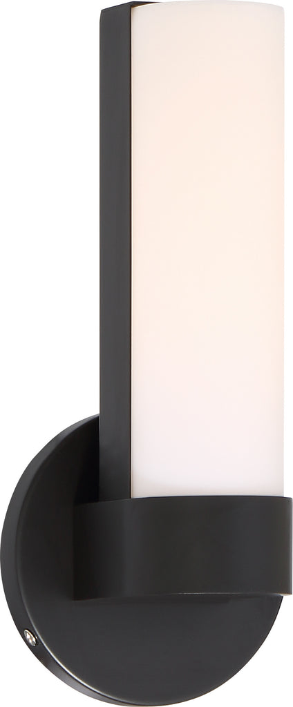 "Nuvo Bond 1-Light 9-1/2"" LED Vanity w/ White Acrylic Lens in Aged Bronze Finish"