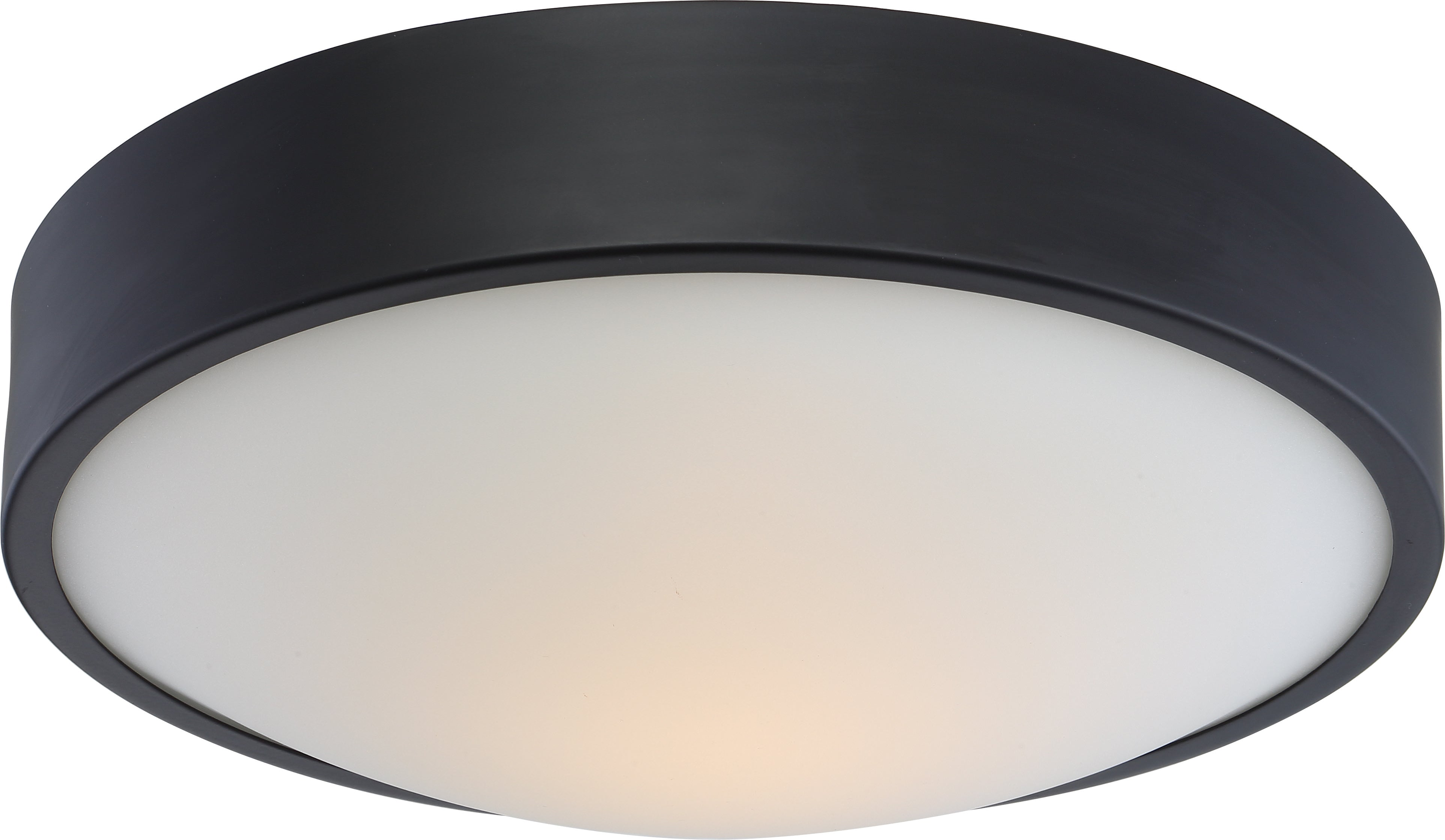"""Nuvo Perk 13"""" LED Flush Mount Fixture w/ White Glass in Aged Bronze Finish"""