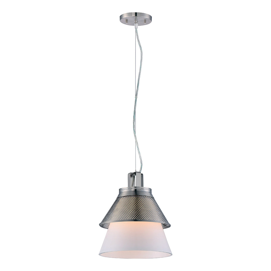 NUVO 62-781 Kyto - LED 10inch Pendant with White Opal Glass
