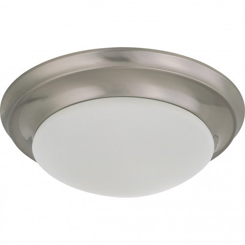 Satco 62-786 18W LED 12 inch Dimmable Brushed Nickel Ceiling Flush Mount Fixture